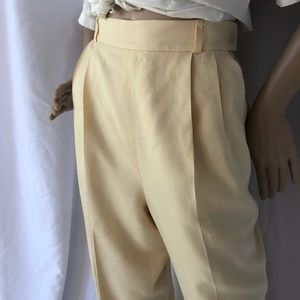 VINTAGE | Super high waisted pleated front pants